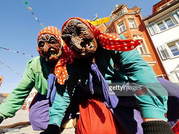 witches at fasching - ugly witches stock photos and pictures