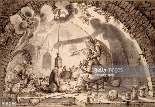 A Witches' Kitchen circa 1600 Dimensions height x width sheet 28 x 408 cm