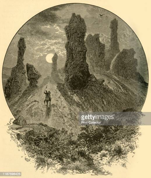 Witches' Rocks Weber Cañon' 1874 Rock formation in the Wasatch Range near Ogden Utah USA 'the road enters [the grandest gorge] almost at once after...