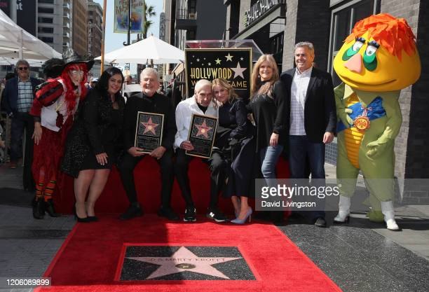 Witchiepoo Rana Ghadban Sid Krofft Marty Krofft Maureen McCormick Susan Olsen Christopher Knight and HR Pufnstuf attend Sid and Marty Krofft honored...