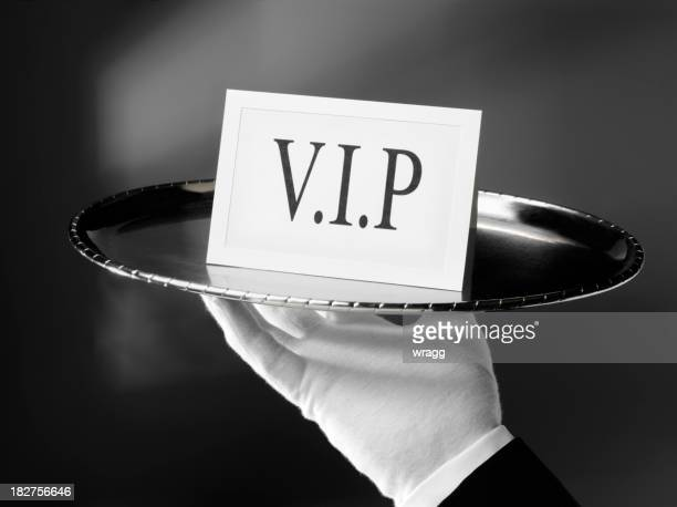 v.i.p. with a first class service - white glove stock pictures, royalty-free photos & images