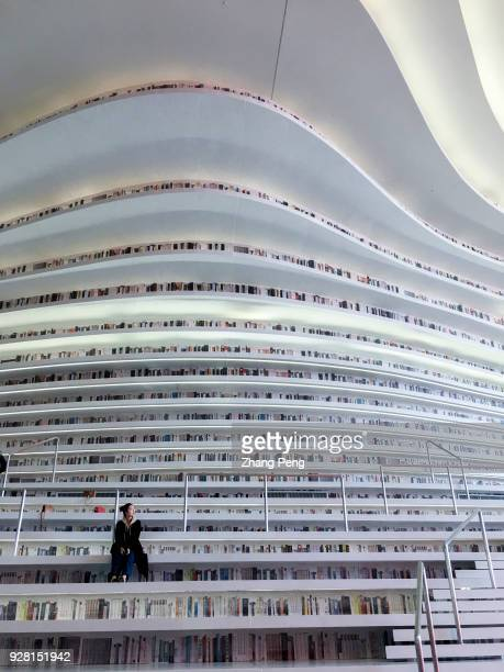 With a huge spherical multifunction hall and circle steps to the ceiling Tianjin Binhai new area library is now a popular topic on social media and a...