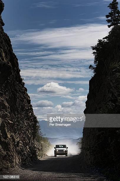 With a Jeep in Alaska, Wrangell-St.Elias
