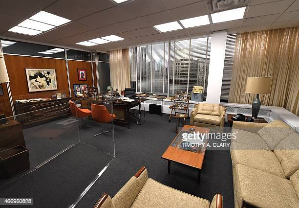 EntertainmentUStelevisionMadMenmuseumFOCUS Don Draper's office at Sterling Cooper Draper Pryce part of Matthew Weiner's Mad Men exhibit is seen at...