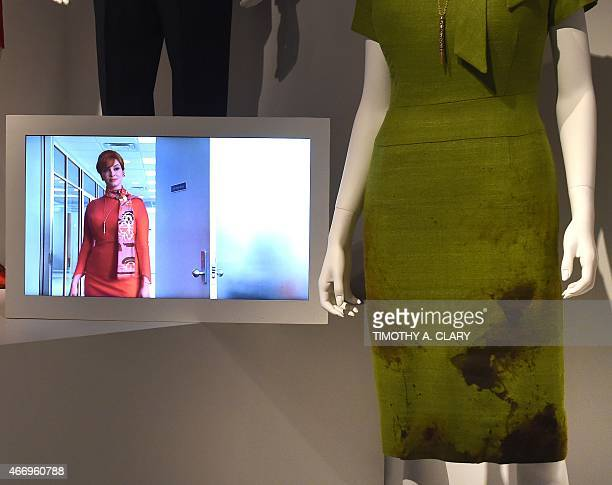 EntertainmentUStelevisionMadMenmuseumFOCUS Joan Holloway's dress from the show part of Matthew Weiner's 'Mad Men' exhibit are seen at the Museum of...