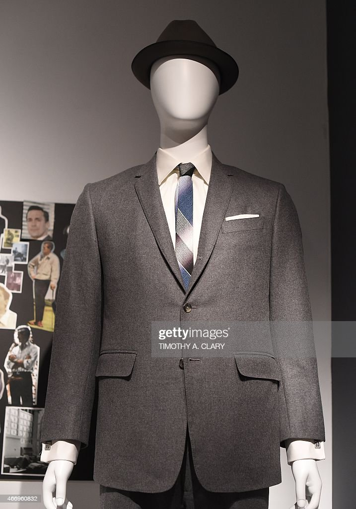 Entertainment-US-television-MadMen-museum,FOCUS Some outfits worn on the show, part of Matthew Weiner's 'Mad Men' exhibit, are seen at the Museum of the Moving Image March 18, 2015. The exhibit, which features a number of sets from the television show, with costumes, props, video clips, advertising art, and personal notes, runs from March 14June 14.