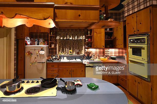 EntertainmentUStelevisionMadMenmuseumFOCUS The inside of the Draper's kitchen as part of Matthew Weiner's 'Mad Men' exhibit is seen at the Museum of...