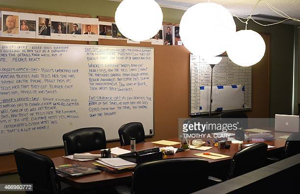 EntertainmentUStelevisionMadMenmuseumFOCUS The show's writers' workroom part of Matthew Weiner's 'Mad Men' exhibit are seen at the Museum of the...