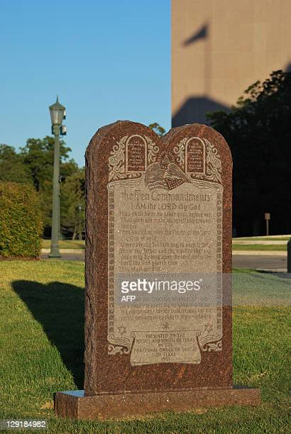 USvote2012politicseconomyRepublicanFOCUS A monument to the Ten Commandments is seen on the grounds of the the Texas state capitol is on October 4...