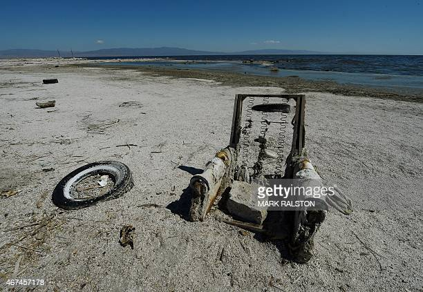 USEnvironmentWaterPollution The remnants of an abandoned marina are seen at Salton City beside the Salton Sea California on March 19 2015...