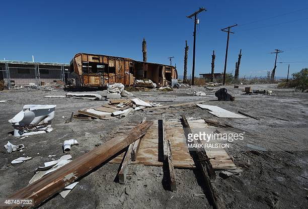 USEnvironmentWaterPollution The remnants of abandoned residences are seen at Salton City beside the Salton Sea California on March 19 2015...