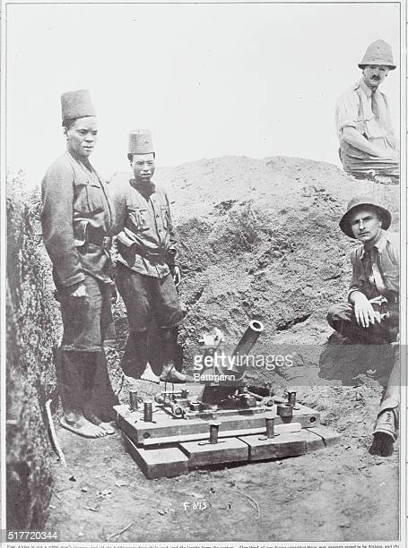 With Belgium's Black Army in Africa a lesson in the art of using the trench mortar East Africa is not a white man's country and all the belligerents...