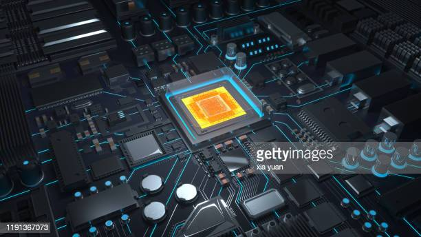 cpu with circuit board - cpu stock pictures, royalty-free photos & images