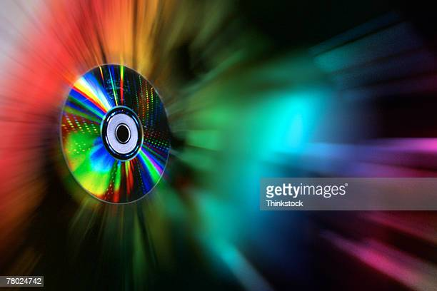 CD with colorful lights