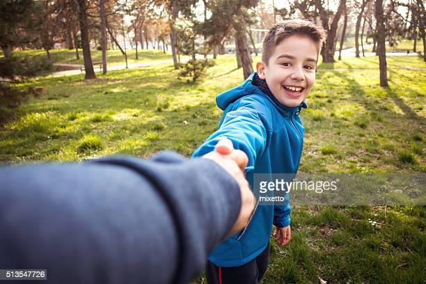 Mit Vater im Park