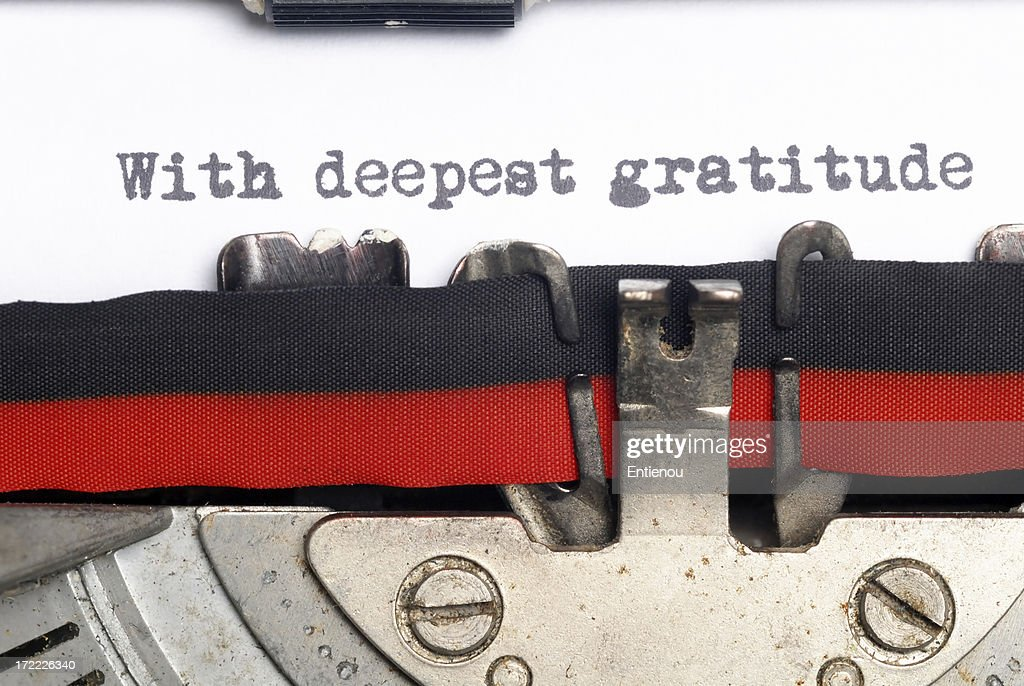 With deepest gratitude : Stock Photo