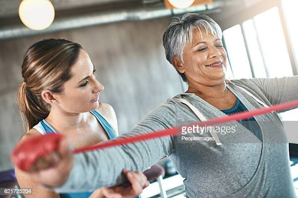 with exercise, the golden years just keep getting better - osteoporosis imagens e fotografias de stock