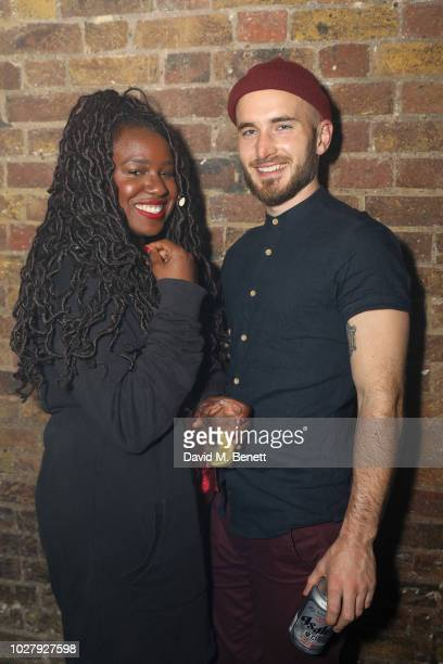 with guest attends the Axel Arigato launch at Village Underground on September 6 2018 in London England