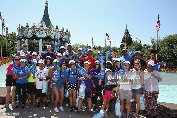 With help from Wyndham Rewards Bigs and Littles with ChicagoÕs Big Brothers Big Sisters get ready to experience their very first roller coaster ride...