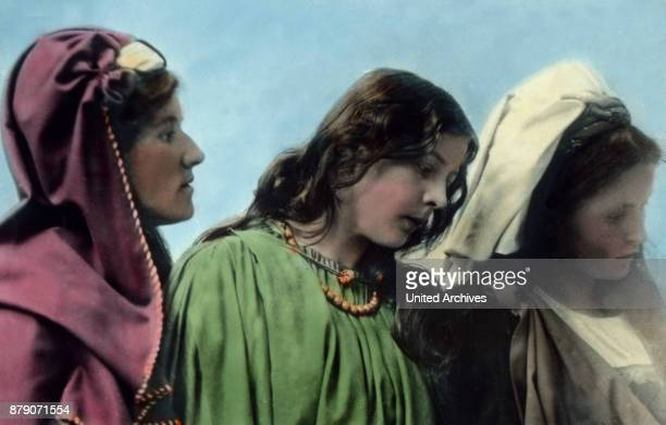 With her __go two devout women who are also called Maria The whole crowd is moving toward Golgotha__ It is all prepared for the crucifixion The...