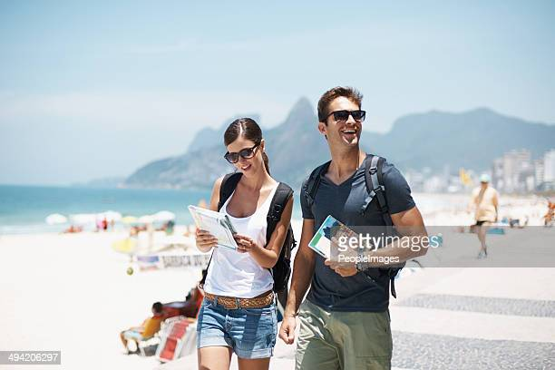 with her by my side this vacation will be great - brazilian men stock photos and pictures