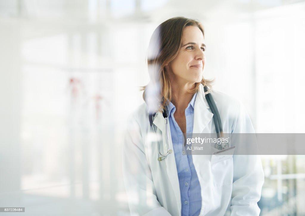 Mit ihr ist eine gute Gesundheit in Sicht : Stock-Foto