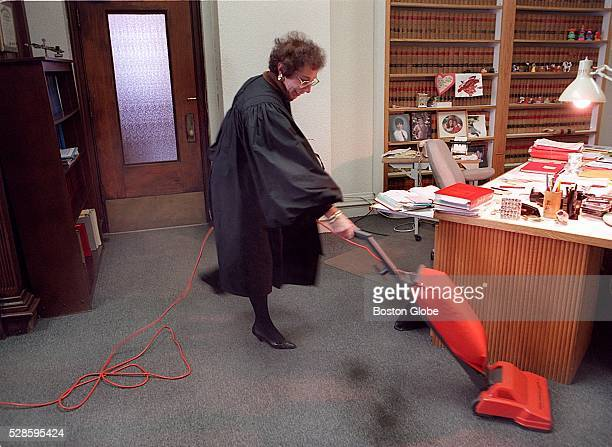 With her Hoover vacuum stored in her office closet Cambridge Probate Judge Beverly Boorstein took cleaning her carpet into her own hands as she does...