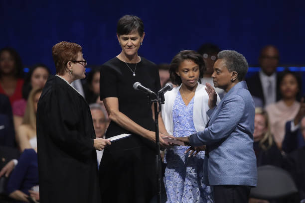 IL: Lori Lightfoot Is Sworn In As Chicago's First Female African American Mayor