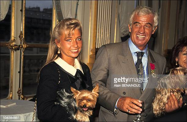 With his friend Nathalie in Paris France on May 06 1991