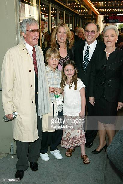 BACHARACH with his wife and children and HAL DAVID and his wife Attending the Opening Night Performance of THE LOOK OF LOVE THE SONGS OF BURT...