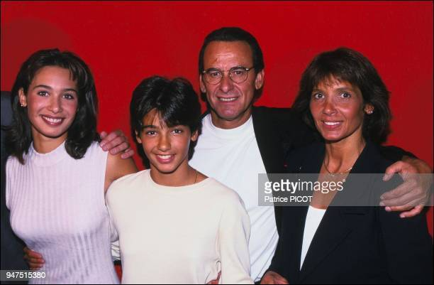 With his wife Stephanie and daughters marie and Lorette in 1994.