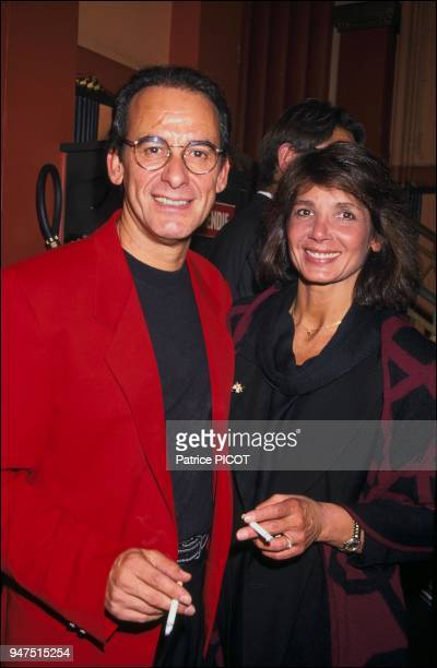 with his wife Stephanie in 1991