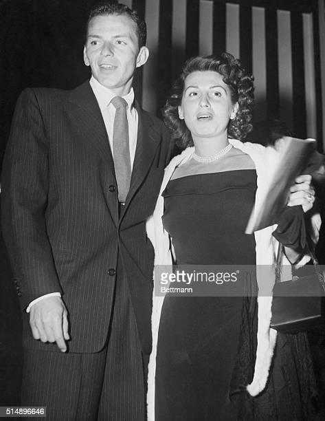 With Hollywood film stars after darkFrank Sinatra and his own wife Nancy about to enter Ciro's night club in Hollywood where film stars sometimes go...