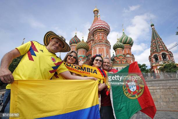 With hours to go until the first World Cup game between Russia and Saudi Arabia football fans from across the globe are in party mood near Red Square...