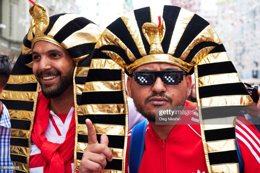 With hours to go until the first World Cup game between Russia and Saudi Arabia, Peruvian fans are in party mood near Red Square in Moscow on June 14, 2018 in Moscow, Russia. FIFA expects more than three billion viewers of the World Cup competition which begins today.