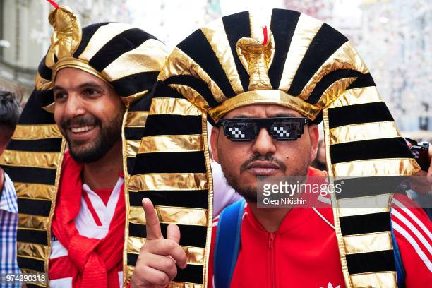 With hours to go until the first World Cup game between Russia and Saudi Arabia Peruvian fans are in party mood near Red Square in Moscow on June 14...