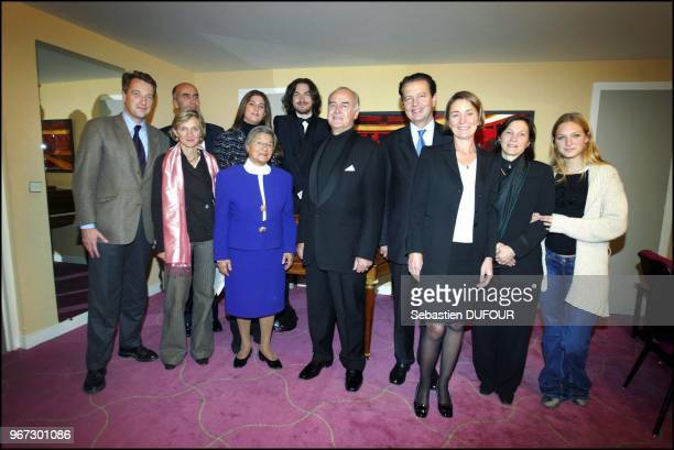 with Jose Van Dam the French minister of justice Dominique Perben and wife French minister of Agriculture Herve Gaymard and wife Caroline Ferry wife...