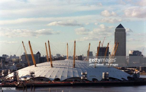 With just over a year until it opens the Millennium Dome at Greenwich stands against the London skyline It was confirmed at the weekend that...