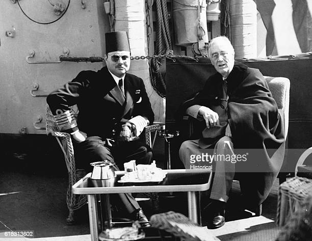 FDR with King Farouk on Return from Yalta