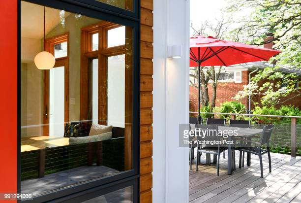 With large windows helps bring the outdoors in and the indoors out at the Gillenwaters' home May 06 2018 in Kensington MD