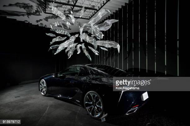 ENERGY [with LEXUS LC] by Akinori Goto is displayed at the Media Ambition Tokyo at Roppongi Hills on February 8 2018 in Tokyo Japan The human body is...