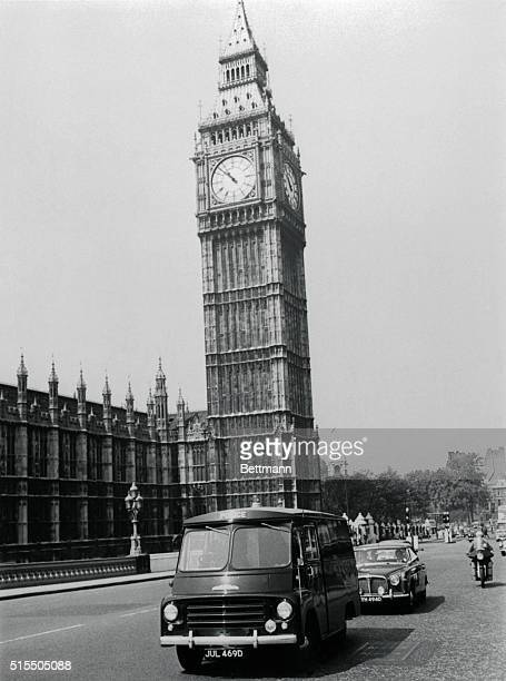 With London's famous Big Ben dominating the scene a police vehicle carrying James Earl Ray the man wanted by the US in connection with the slaying of...