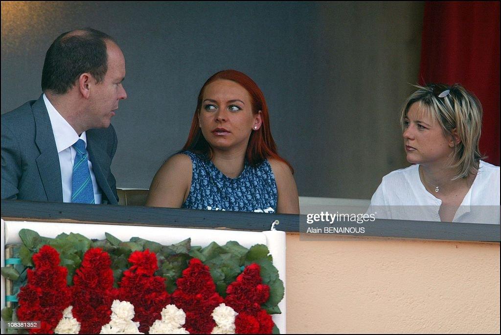 Prince Albert Of Monaco With Friends In Monaco On April 14, 2003. : News Photo