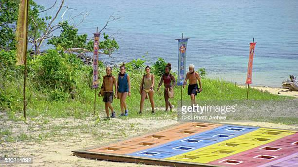 With Me Or Not With Me Tai Trang Aubry Bracco Michele Fitzgerald Cydney Gillon and Joseph Del Campo during the thirteenth episode of SURVIVOR KAOH...
