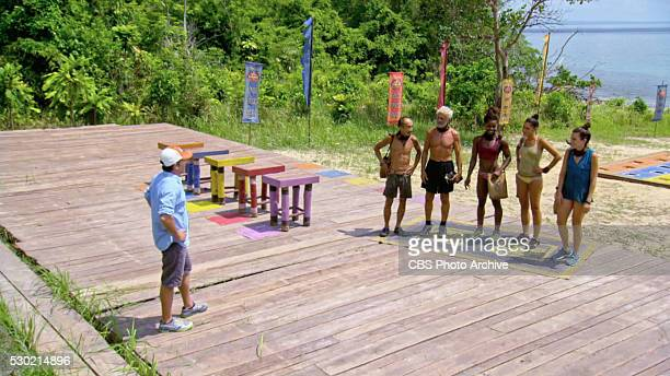 With Me Or Not With Me Tai Trang Joseph Del Campo Cydney Gillon Michele Fitzgerald and Aubry Bracco during the thirteenth episode of SURVIVOR KAOH...