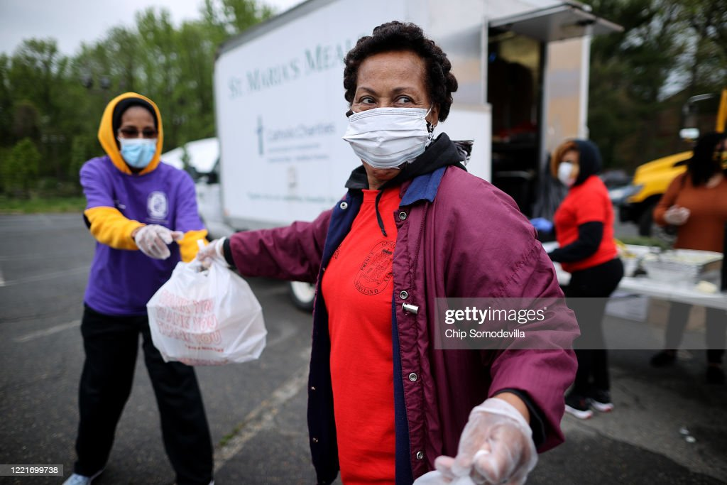 Catholic Charities DC Holds Major Food Giveaway In Maryland : News Photo