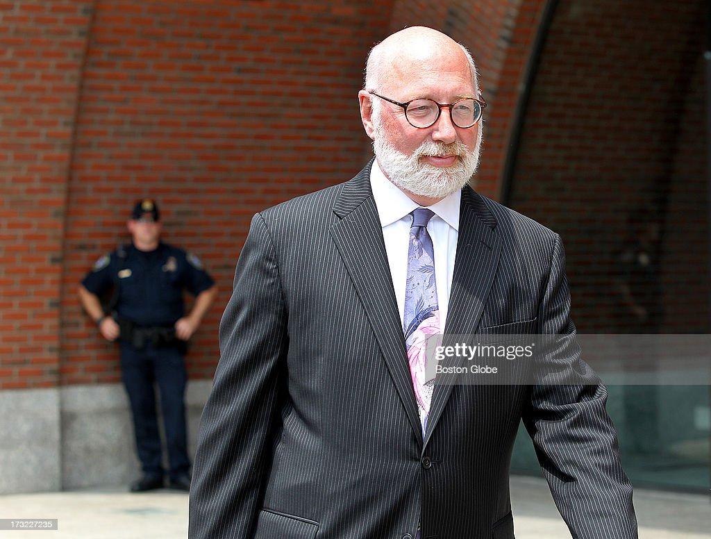 With most media gathered outside the courthouse interested in the appearance of alleged Boston Marathon bombing suspect Dzhokhar Tsarnaev, none seem to notice as J.W. Carney, Jr., Whitey Bulger's attorney, leaves for the day after his trial. The trial of James 'Whitey' Bulger continues at the John Joseph Moakley United States Courthouse in Boston, July 10, 2013.
