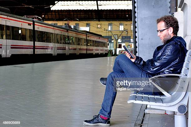 With my ebook in the train station