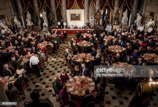 WASHINGTON DC With President Donald J Trump sitting at the head table with the First Lady Melania Trump by his side Congressional leaders and...