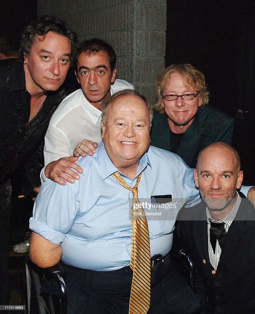 R.E.M. with Sen. Max Cleland during 28th Annual Georgia Music Hall of Fame Awards - September 16, 2006 at Georgia World Congress Center in Atlanta, Georgia, United States.
